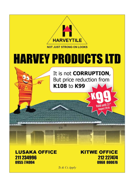 Price reduction on roof tiles