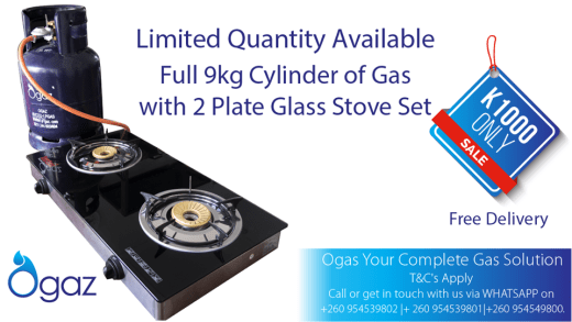 Discount on gas cylinder and stove set