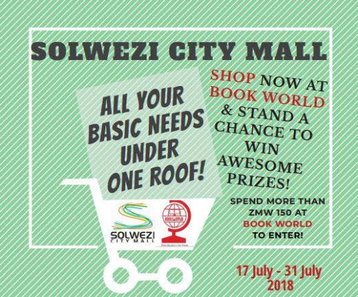 Shop at Bookworld Solwezi and stand a chance to win awesome prizes