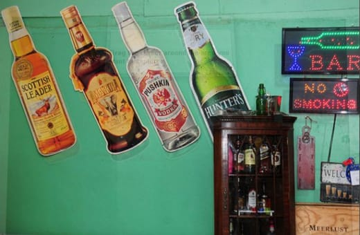 Quick bar available with premium drinks