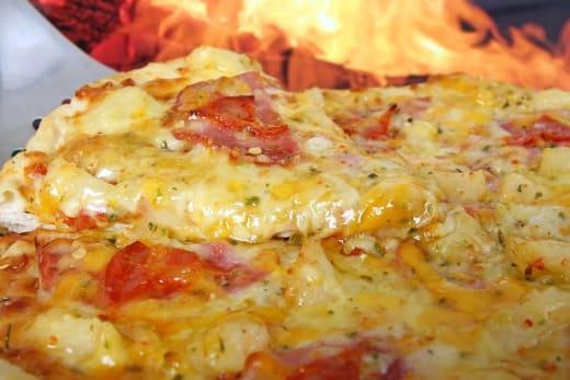 Delicious pizza on the menu