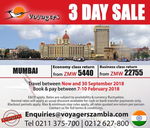 3 day sale on Mumbai flights