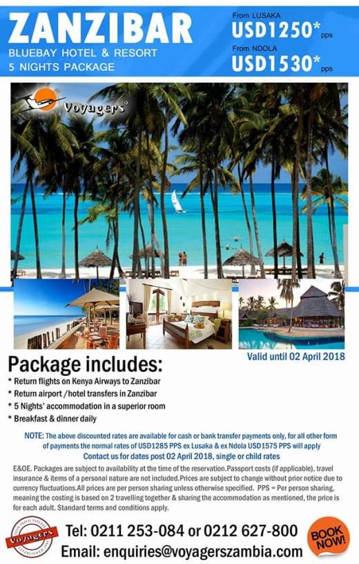 Zanzibar 5 nights package