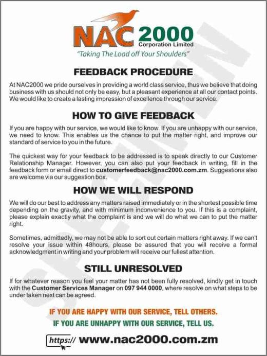 Customer Feedback Procedure