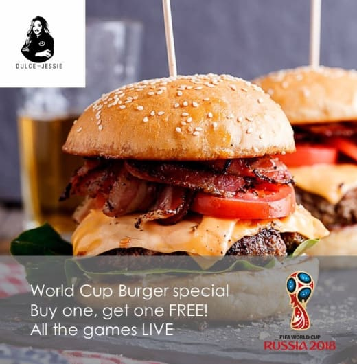 World Cup burger special