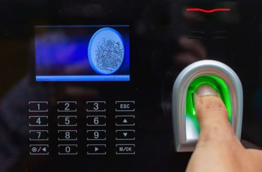 Biometric time control solution