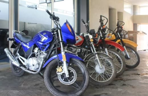 Comprehensive range of Yamaha and Jialing branded motor bikes and quads