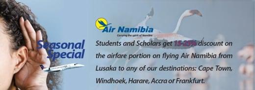 Discount on student/scholar flights