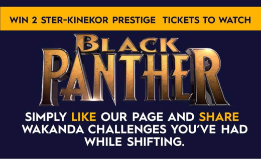 Win two tickets for the Black Panther movie