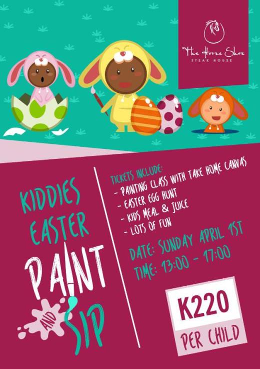 Kiddies Easter Paint & Sip Session