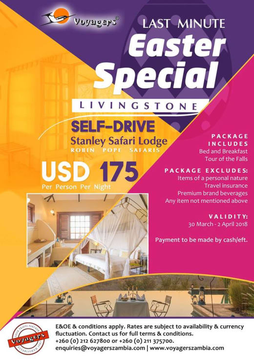 Last minute Easter special in Livingstone