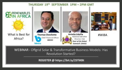 Webinar — Offgrid Solar & Transformative Business Models: Has The Revolution Started?