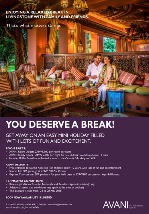You deserve a break with Avani