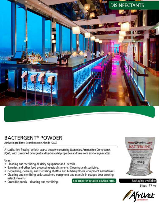 Bactergent Powder available in stock