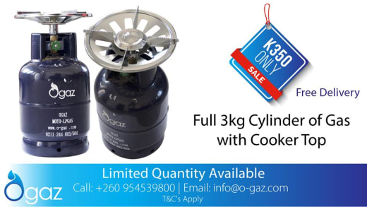 Discount on gas cylinders and cooker tops