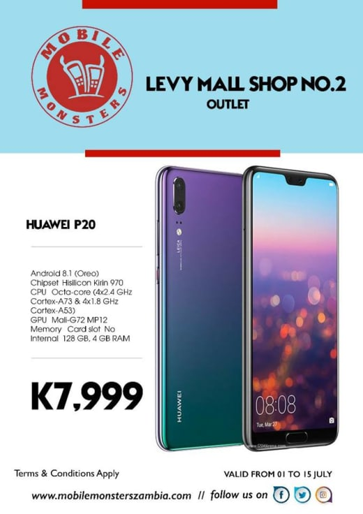 Huawei P20 phone available in stock
