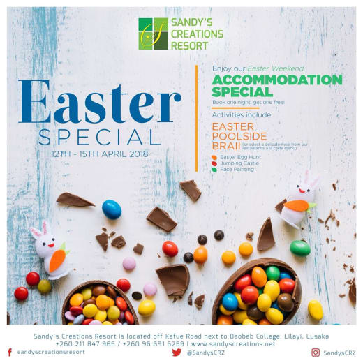 Easter weekend special: Book one night get one free