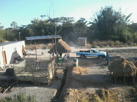 Solar pumps installed in rural area