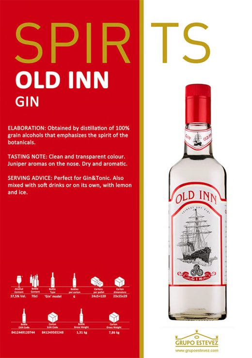 Now available from Supergold Vending - Spirits Old Inn Gin