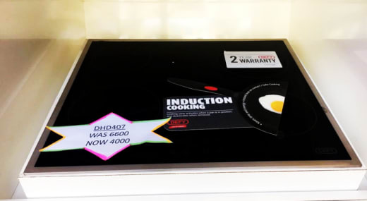 Discount on 4 plate induction hob