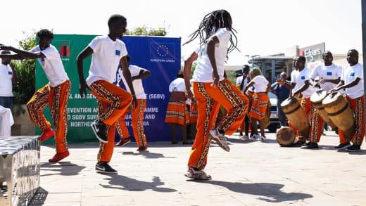 Barefeet performs at the EU's 2018 Civil Society Carnival