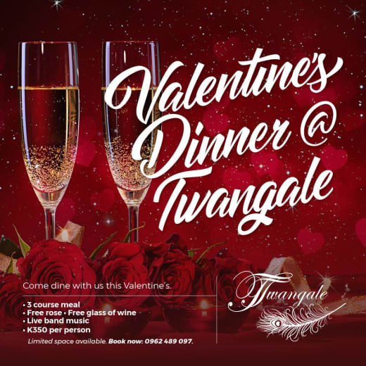Valentine's dinner at Twangale Park