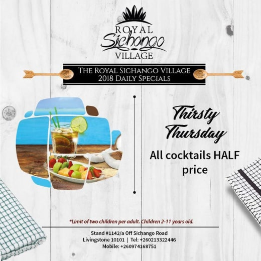 Thirsty thursday: half price on cocktails