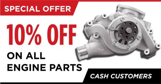 Get 10% off engine parts