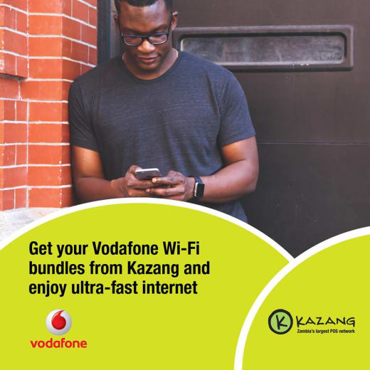 Vodafone Wi-Fi bundles available from Kazang agents