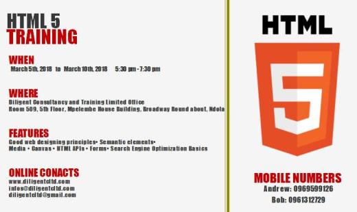 HTML 5 Training