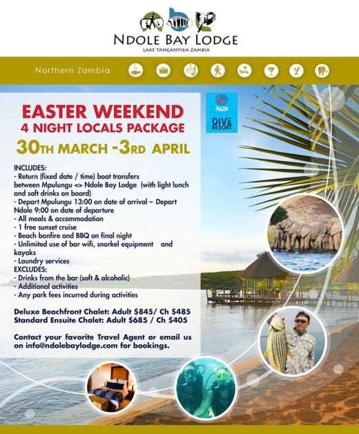 Lake Tanganyika Easter package for locals
