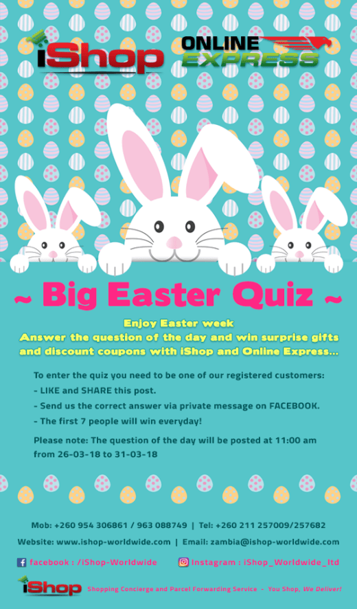 Big Easter Quiz: Win gifts and discount coupons