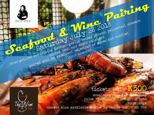 Seafood and wine pairing dinner