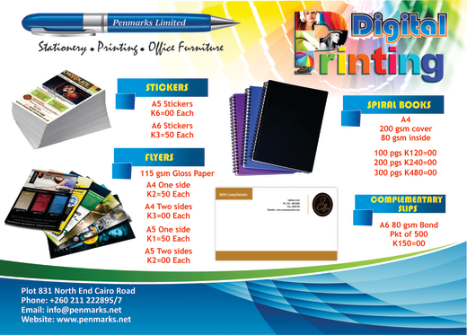 Great value printing packages - stickers, flyers and more