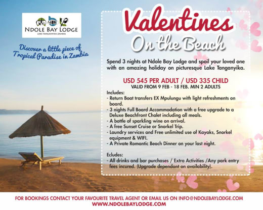 Lake Tanganyika Valentine's package