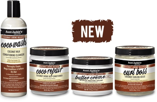 New Aunt Jackie's coconut hair range available in stock