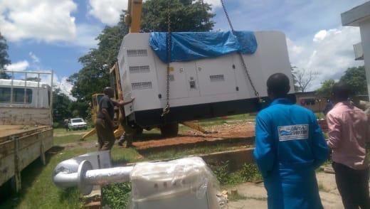 Davis and Shirtliff sucessfully installs generator at Kitwe Teaching Hospital