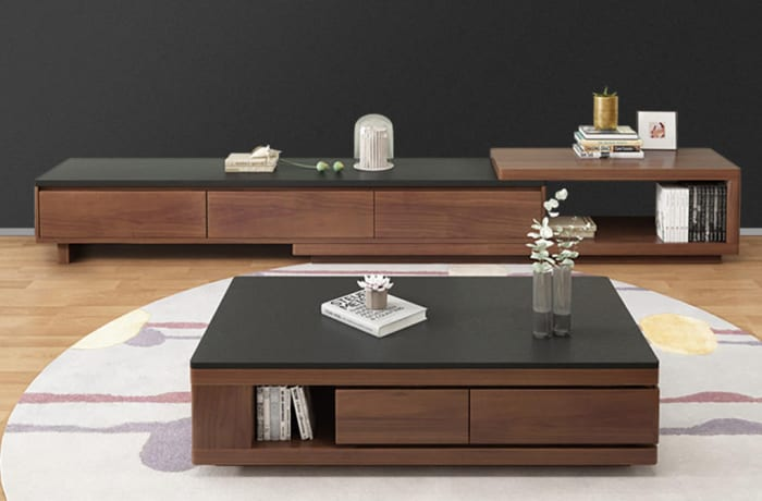 Coffee Table Tv Cabinet Combination Set Nordic Marble C150 Ola
