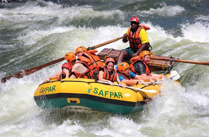 White water rafting image