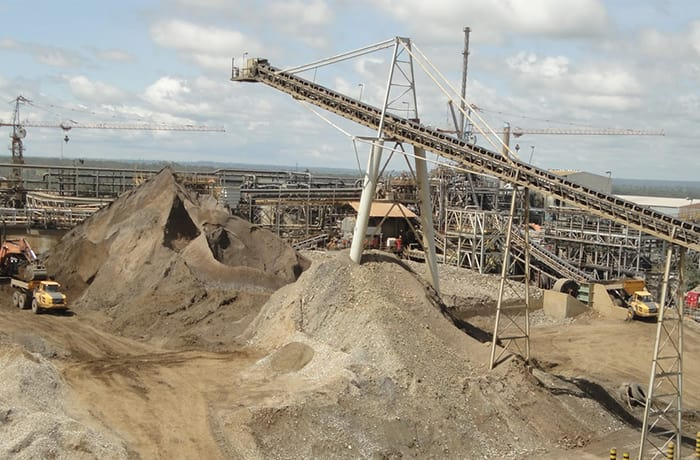 Mining processing and refining image