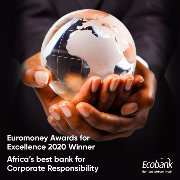 Ecobank Group named Africa's Best Bank for Corporate Responsibility  by Euromoney