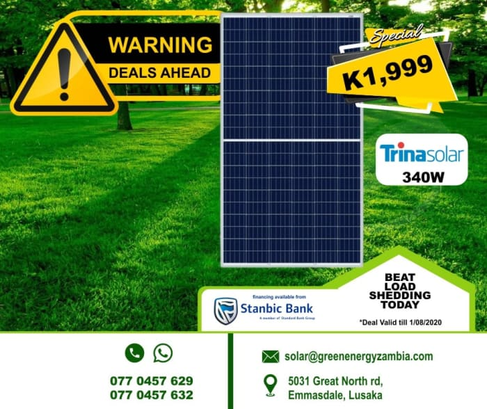 Special offer on Trinasolar 350W panel