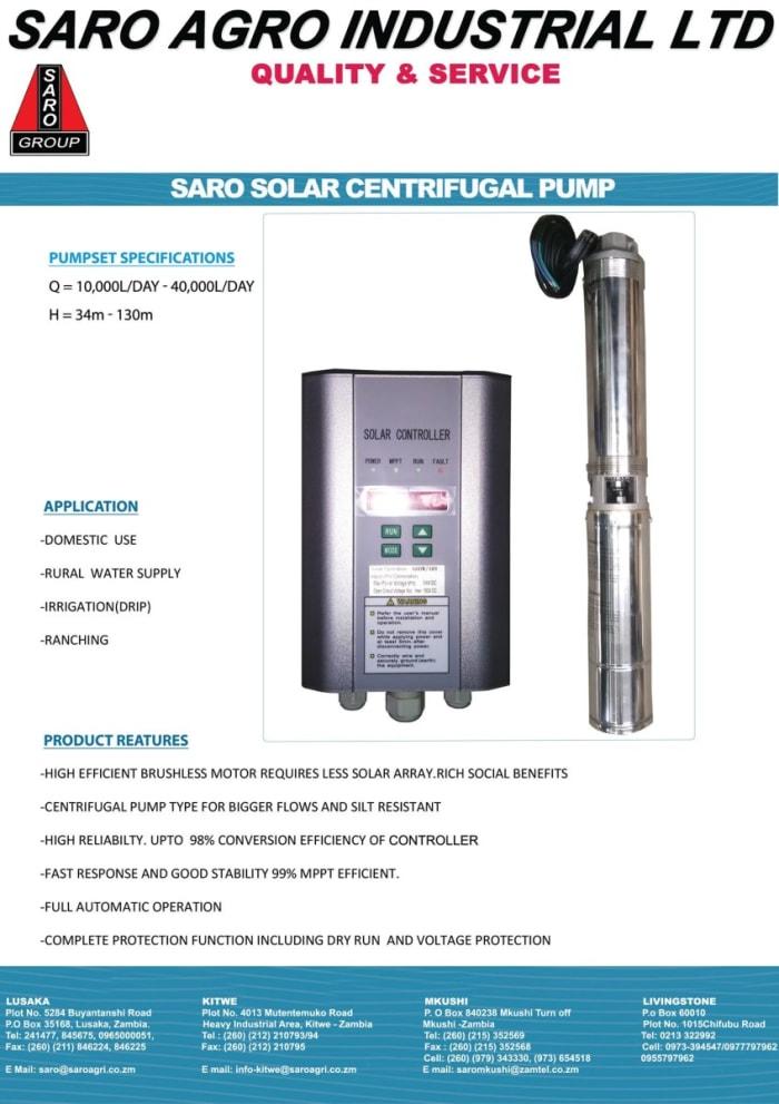 Saro Solar Centrifuhal pump