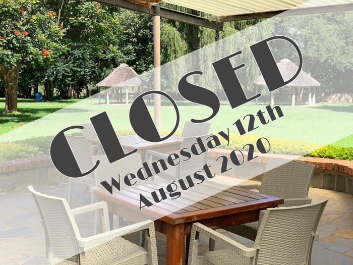 Notice: closed 12th August 2020
