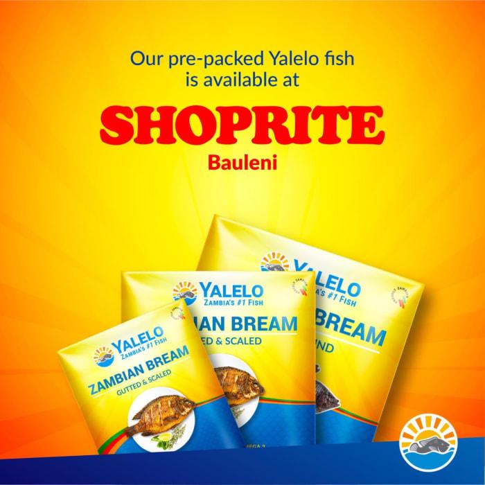 Pre - packed Yalelo fish available at Shoprite Bauleni