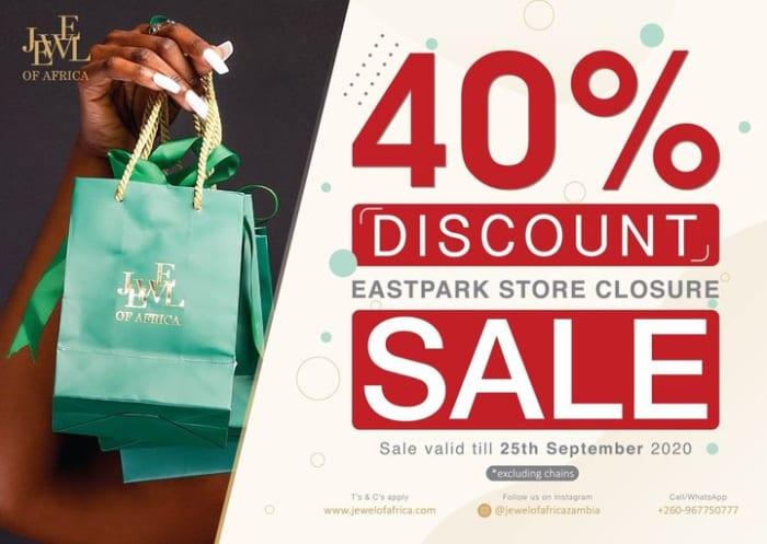 40% off jewellery - EastPark store closure sale
