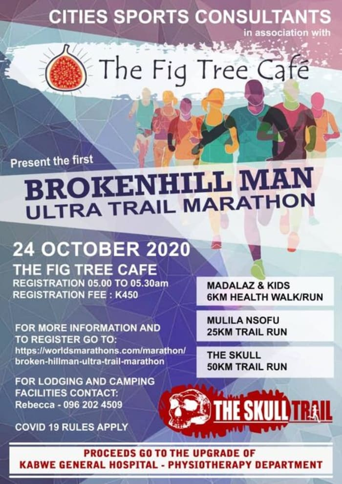 Cities Sports Consultants in Association with The Fig Tree Cafe presents the Brokenhill Man Ultra Trail Marathon