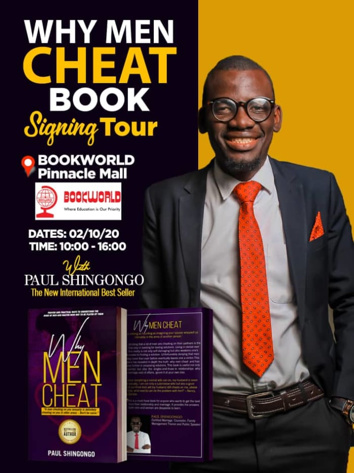 Why Men Cheat- Book signing Bookworld