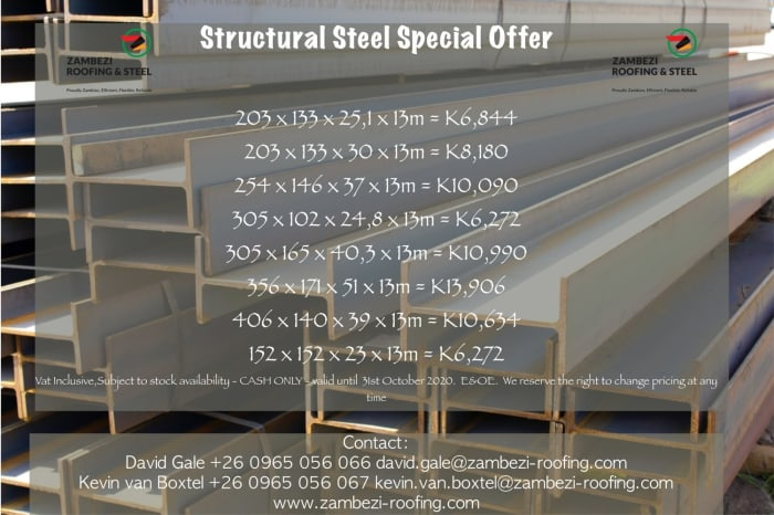 Structural steel special offer