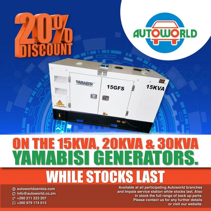 Massive 20% discount on Yamabisi generators!